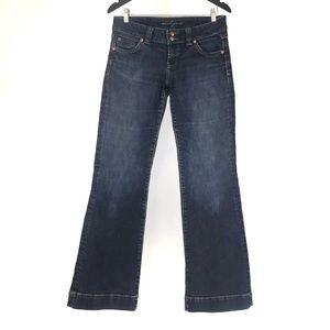 Dish Deseray Dark Blue Wide Flare Jeans, 30